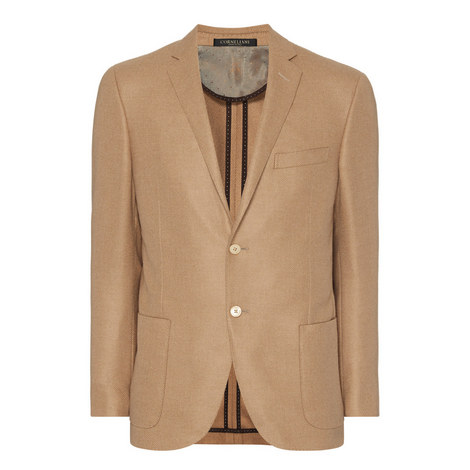 Single Breasted Twill Jacket, ${color}