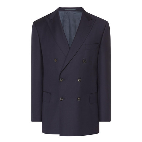 Double Breasted Wool Blazer, ${color}