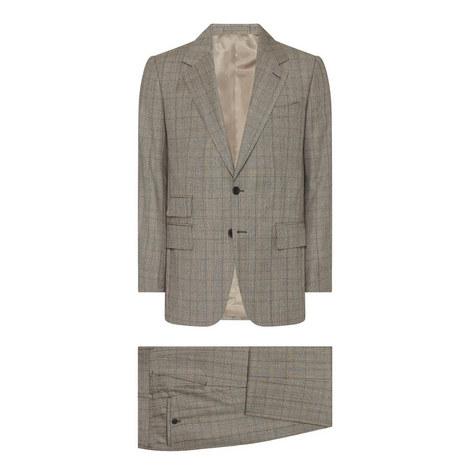 Large Check Two-Piece Suit, ${color}