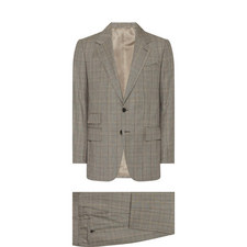 Large Check Two-Piece Suit