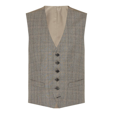 Large Check Waistcoat, ${color}