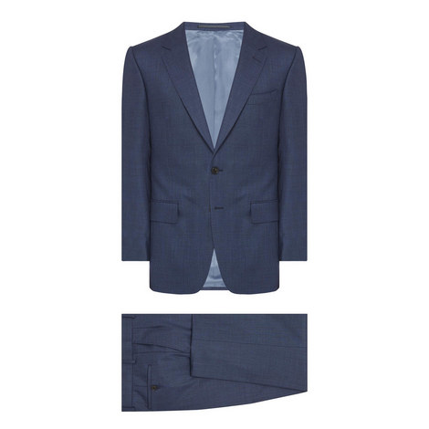 Textured Two-Piece Suit, ${color}