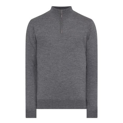 Zip Neck Sweater, ${color}