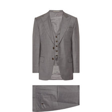 3 Piece Sharkskin Wool Suit