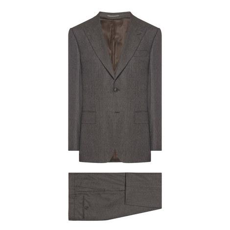 2 Piece Wool Flannel Suit, ${color}