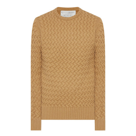Cable Knit Wool Sweater, ${color}