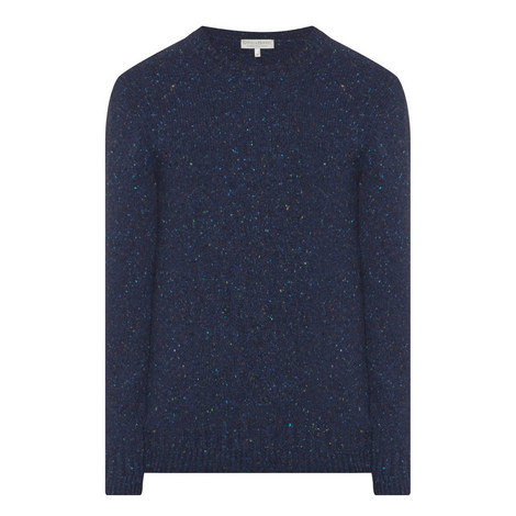 Crew Neck Donegal Knit Sweater, ${color}