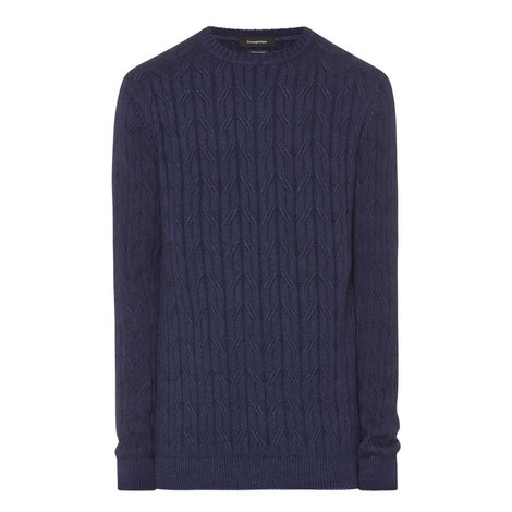 Cashmere Cable Knit Sweater, ${color}