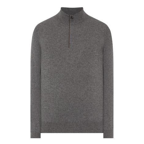 Half-Zip Cashmere Sweater, ${color}