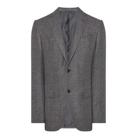 Textured Single-Breasted Blazer, ${color}