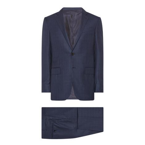 2-Piece Rich Shadow Check Suit, ${color}