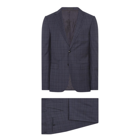 Two-Piece Tonal Check Suit, ${color}