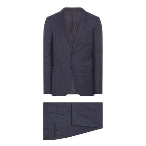 Two-Piece Tonal Check Suit, ${color}