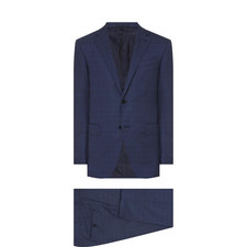 Two-Piece Micro Check Suit