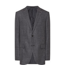 Single-Breasted Herringbone Jacket