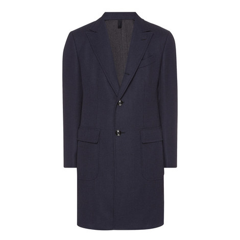 Wool Single-breasted Coat, ${color}