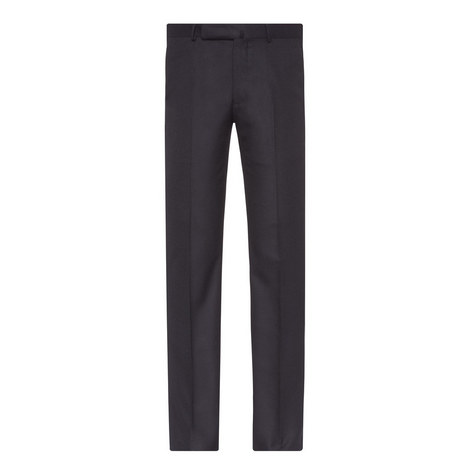 Flannel Wool Trousers, ${color}