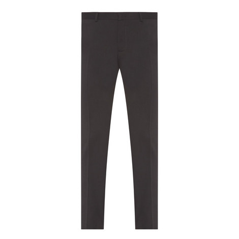 Slim-Fit Flannel Trousers, ${color}