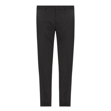 Slim-Fit Twill Trousers, ${color}