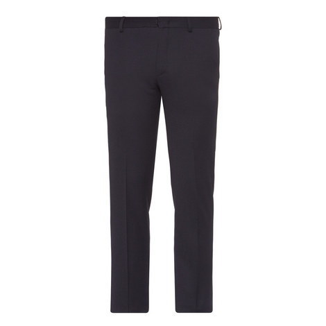 Slim Fit Flannel Trousers, ${color}
