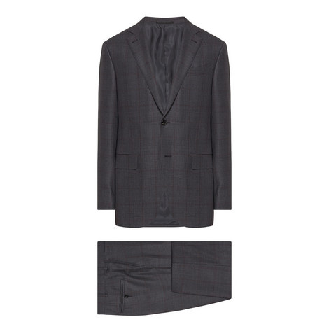 Milano Easy Check Suit, ${color}