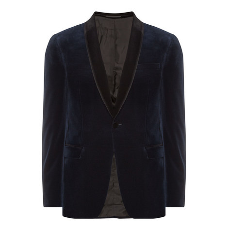 Shawl Collar Velvet Jacket, ${color}