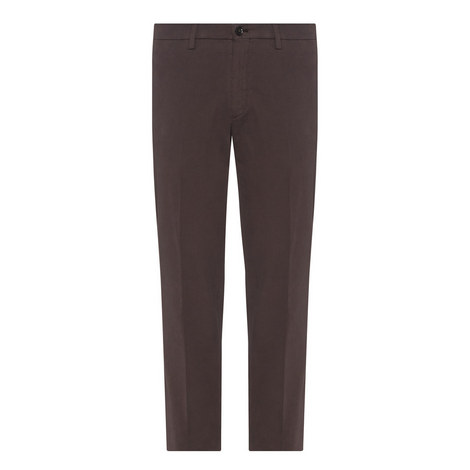 Textured Straight Fit Trousers, ${color}