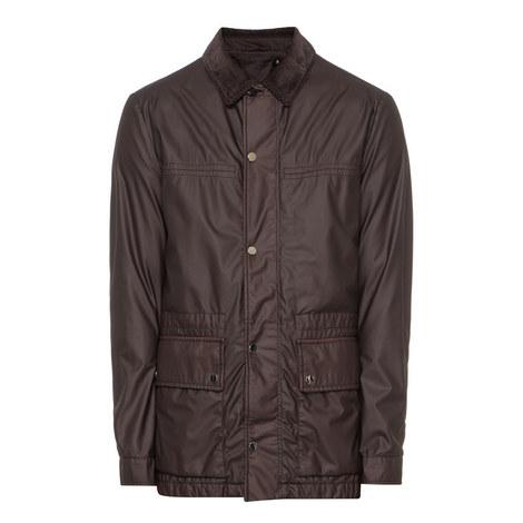 Waxed Zip-Through Coat, ${color}