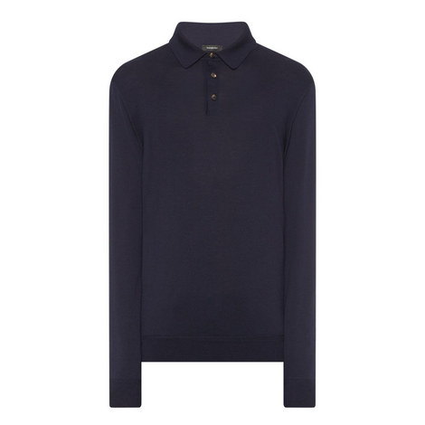 Long Sleeve Wool Polo Shirt, ${color}