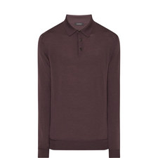Wool Knitted Polo Top