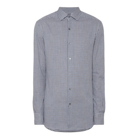 Textured Gingham Shirt, ${color}