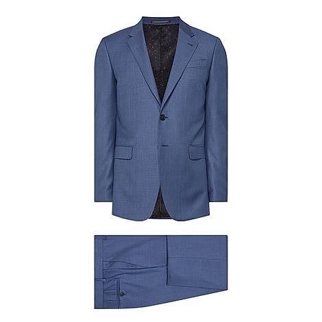 Two-Piece Sharkskin Byard Fit Suit, ${color}