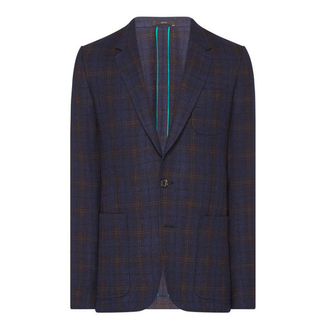 Tweed Single-Breasted Blazer, ${color}