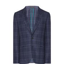 Tweed Check Pattern Blazer