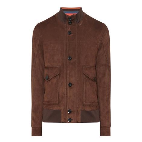 Suede Buttoned Jacket, ${color}