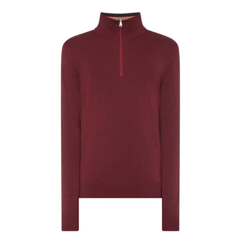 Merino Wool Half-Zip Sweater, ${color}
