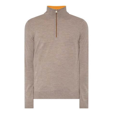 Merino Wool Half-Zip Sweater, ${color}