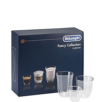 Set of 6 Fancy Collection Coffee Glasses