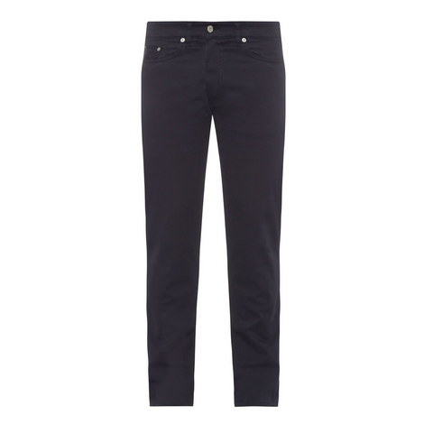 Regular Fit Straight Satin Jeans, ${color}