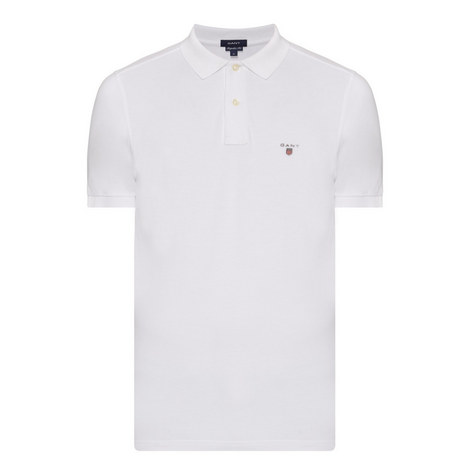 Solid Rugby Polo Shirt, ${color}