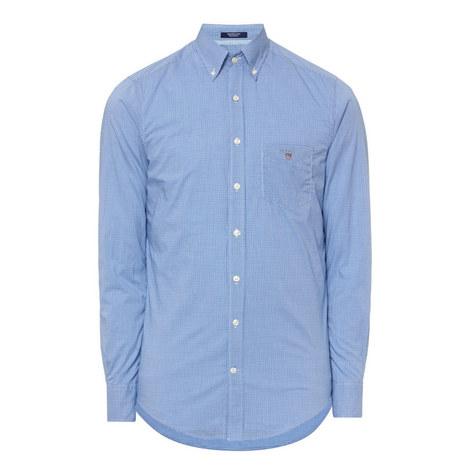 Gingham Poplin Cotton Shirt, ${color}