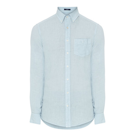 Chambray Linen Shirt, ${color}
