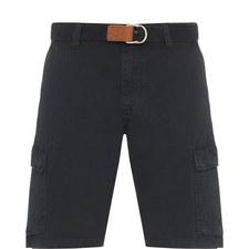 Belt-Fastened Cargo Shorts