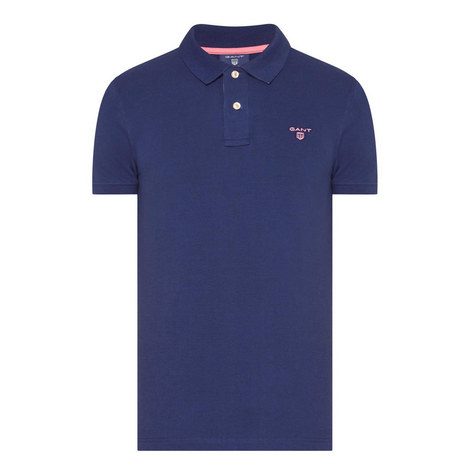 Contrast Trim Piqué Polo Shirt, ${color}