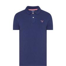 Contrast Trim Piqué Polo Shirt