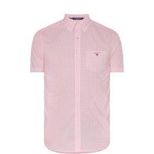 Gingham Check Short Sleeve Shirt