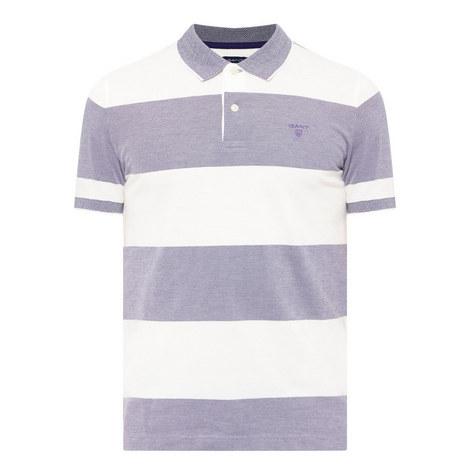 Bar Stripe Piqué Polo Shirt, ${color}