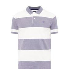 Bar Stripe Piqué Polo Shirt