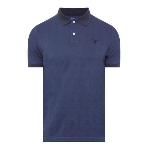 Argyle Piqué Polo Shirt, ${color}