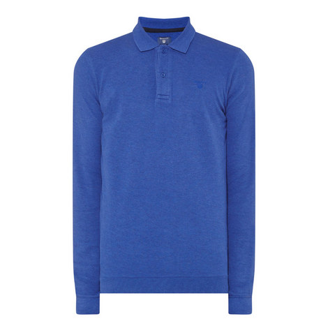 Long-Sleeved Logo Polo Shirt, ${color}